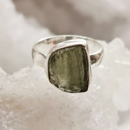 Moldavite Ring by Mark Bajerski