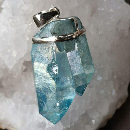 HQ Aqua Aura Healing Crystal by Mark Bajerski