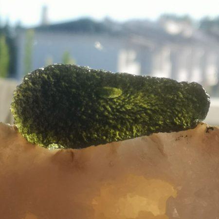 Museum Grade AAA Moldavite Teardrop from Maly Chlum Mark Bajerski 28.69