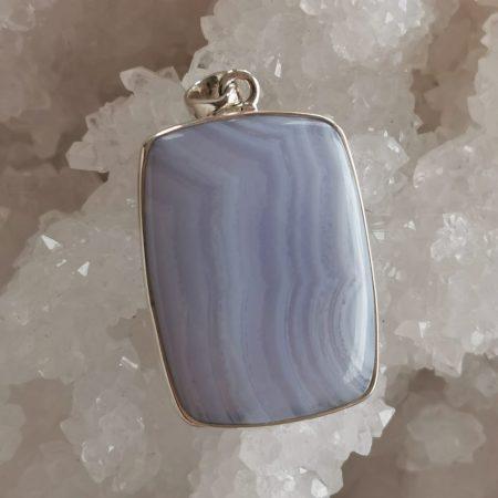 HQ Agate Blue Lace Healing Crystal by Mark Bajerski