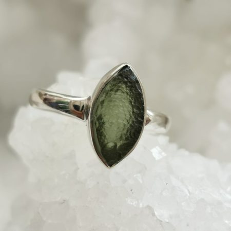 Moldavite AA Ring by Mark Bajerski