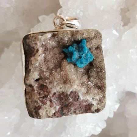 HQ Cavansite Healing Crystal Pendant