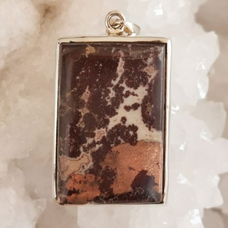 HQ Copper Agate Healing Crystal Pendant