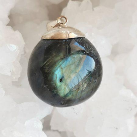 HQ Labradorite Healing Crystal Pendant by Mark Bajerski
