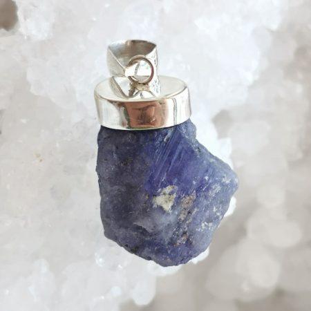 HQ Azurite Healing Crystal Pendant by Mark Bajerski