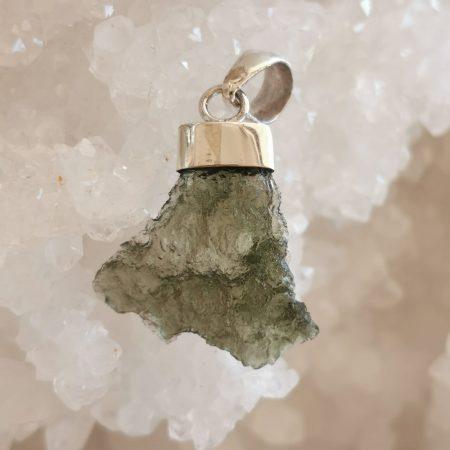 Moldavite Maly Chlum Pendant by Mark Bajerski