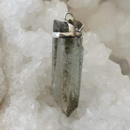HQ Chlorite & Quartz Healing Crystal Pendant by Mark Bajerski
