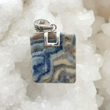 HQ Lapis Lace Healing Crystal Pendant by Mark Bajerski