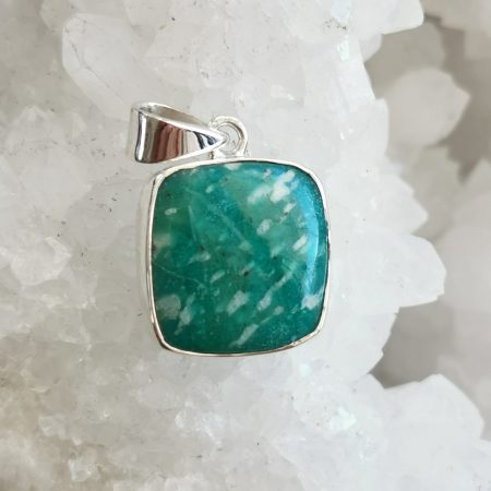 HQ Amazonite Healing Crystal Pendant by Mark Bajerski