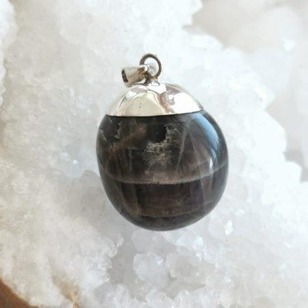 HQ Black Moonstone Healing Crystal Pendant by Mark Bajerski