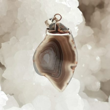 HQ Botswana Agate Healing Crystal Pendant by Mark Bajerski