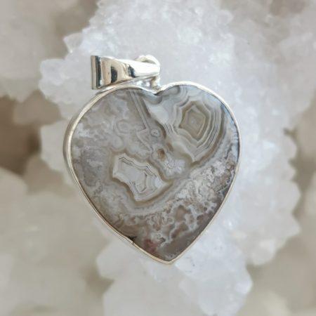 HQ Crazy Lace Agate Healing Crystal Pendant by Mark Bajerski