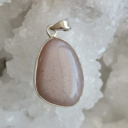HQ Peach Moonstone Healing Crystal Pendant by Mark Bajerski
