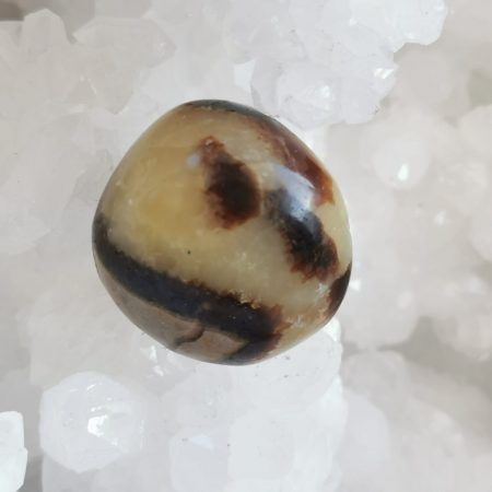 HQ Septarian Sphere Holding Crystal