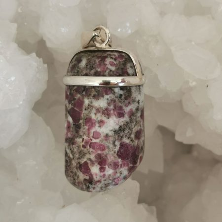 HQ Ruby in Albite Healing Crystal by Mark Bajerski